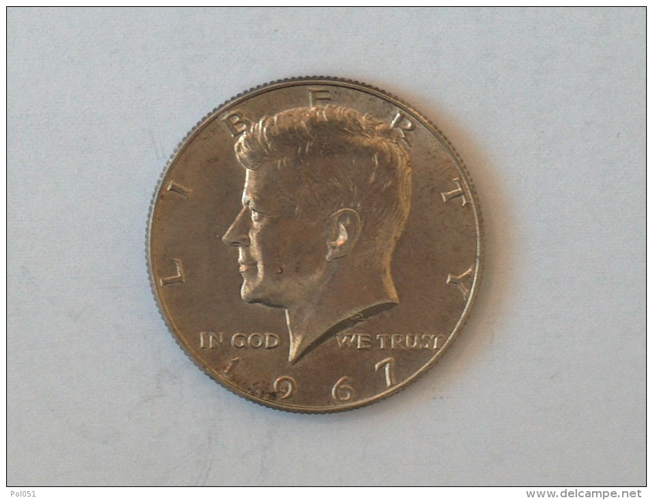 Etats-Unis, United States, USA - Half  1/2 Dollar 1967 1967P - KENNEDY - Silver, Argent - Federal Issues