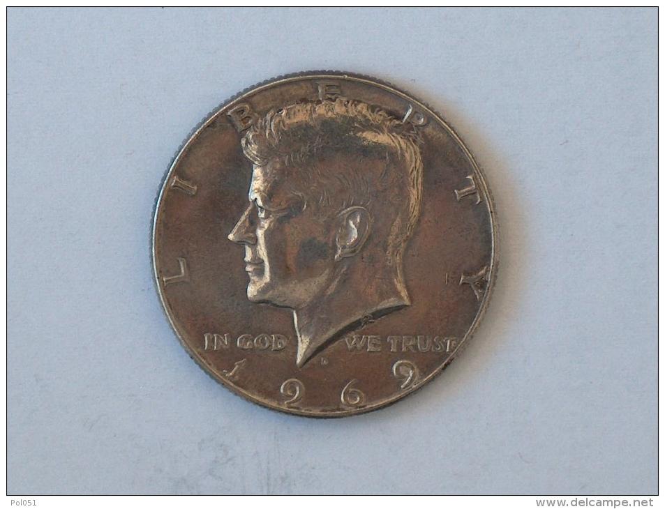 Etats-Unis, United States, USA - Half  1/2 Dollar 1969 1969D - KENNEDY - Silver, Argent - Federal Issues