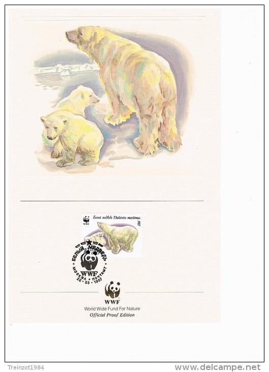 C1023 WWF ZOOGDIEREN MAMMALS IJSBEER POLAR BEAR EISBÄR 1987 PROOF EDITIONS - W.W.F.