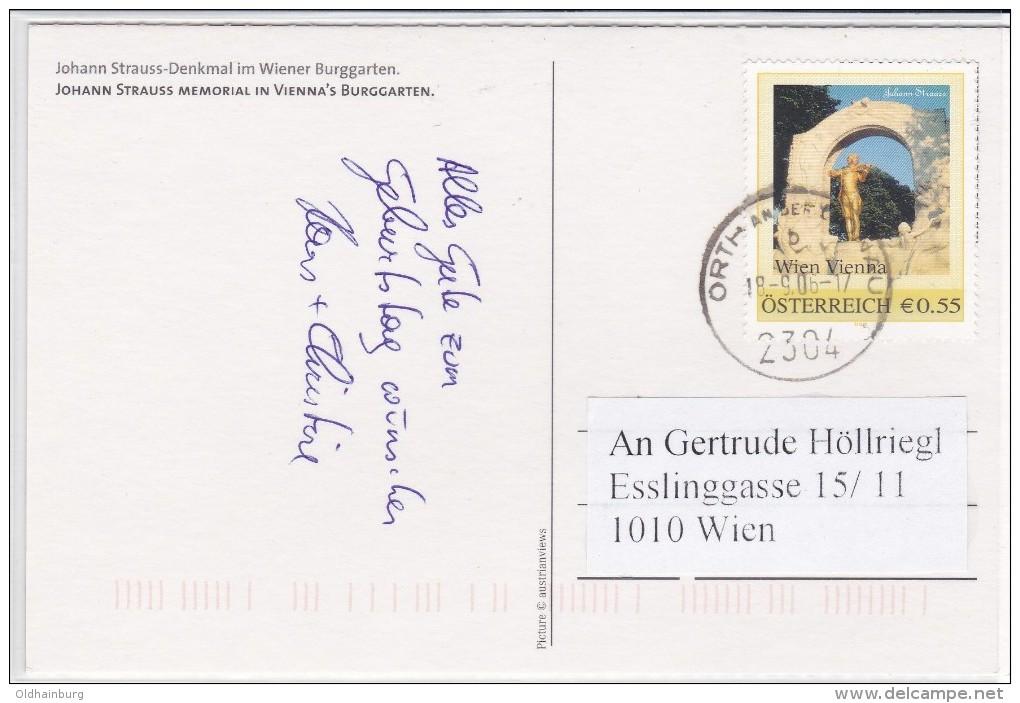 """1310z1: Personalisierte Marke Aus Österreich """"Johann Strauß"""" Auf Bedarfs- Ansichtskarte - Musik"""