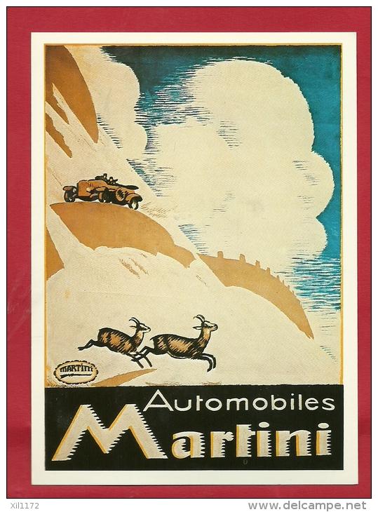 BFO-12  Litho Automobiles Martini. Chamois. Emile Cardinaux.Collection Affiches Musée Suisse Des Transports. Non Circulé - Passenger Cars