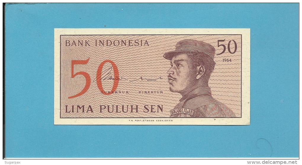INDONESIA - 50 SEN - 1964 - P 94 - UNC. - Série JFR - A Volunteer Man In Uniform - 2 Scans - Indonésie