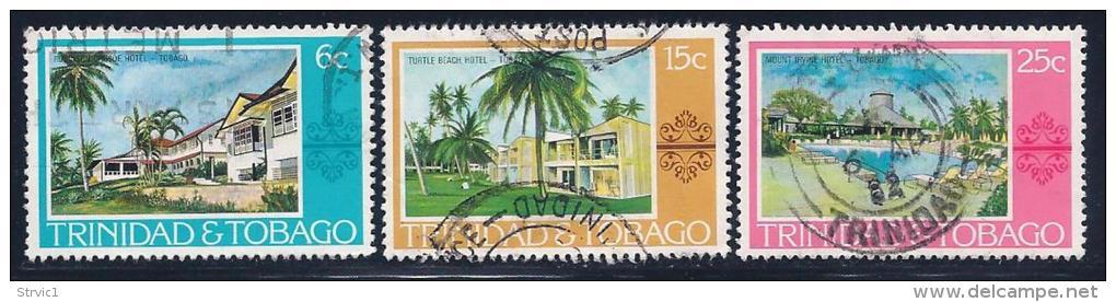 Trinidad & Tobago, Scott # 279-81 Used Various Scenes, 1978 - Trinidad & Tobago (1962-...)