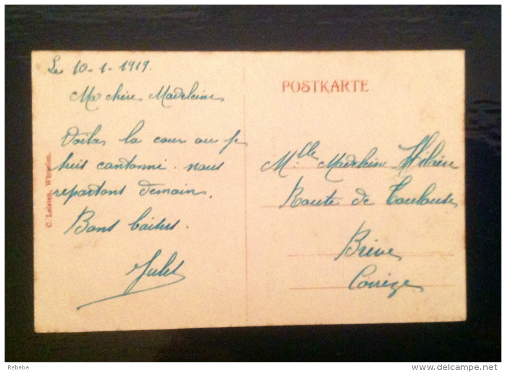 Würselen Schankwirtschaft Simon Breuer Und Scherbergerstr. 1919 Bei Achen - Würselen