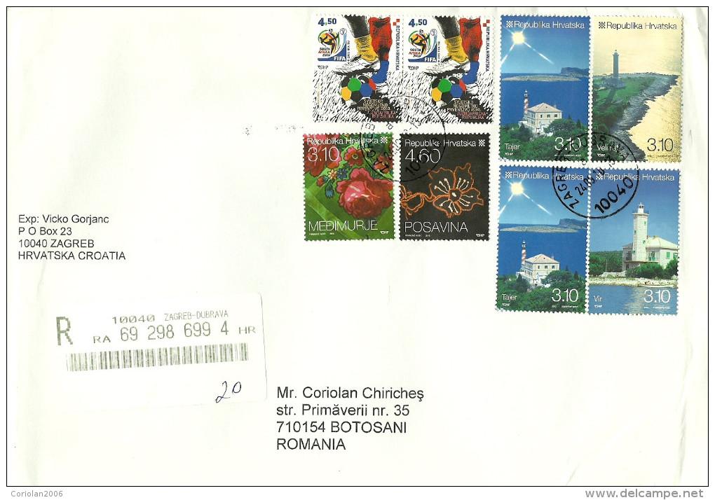 Croatia / Registered Cover - Lighthouses