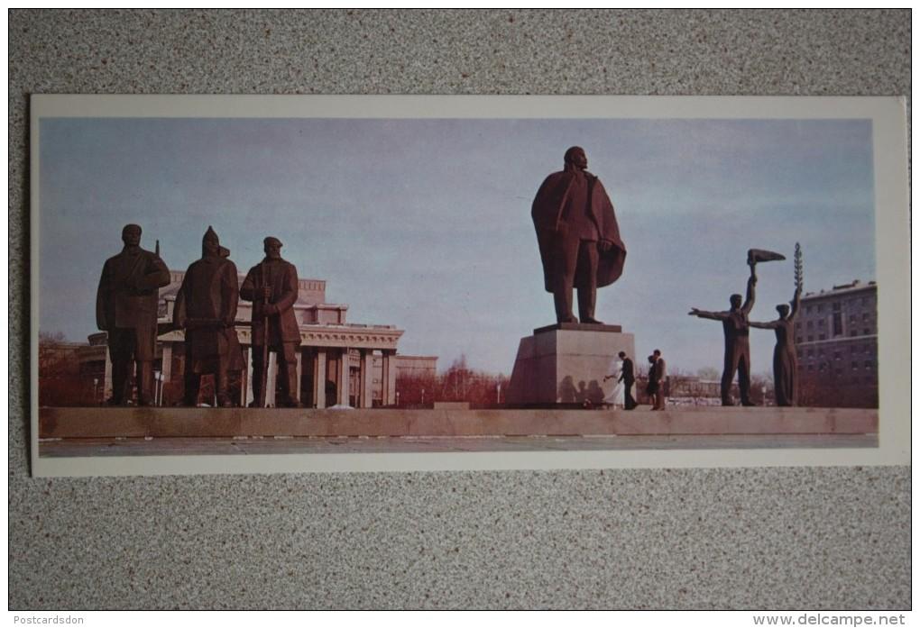 Russia. Novosibirsk. Lenin Monument .  1977  Postcard - Monuments