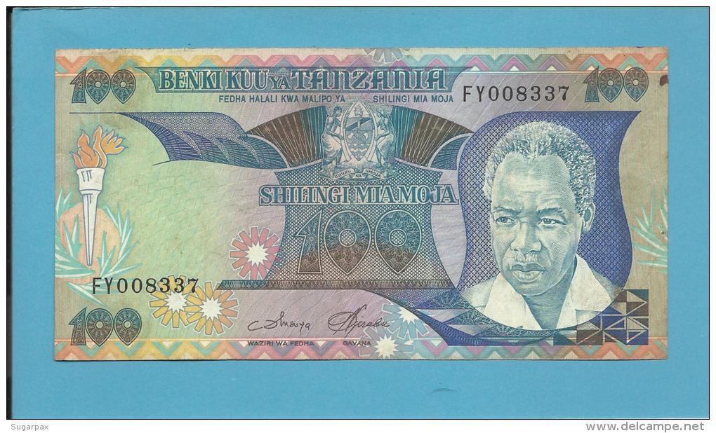 TANZANIA - 100 SHILINGI - ND ( 1985 ) - P 11 - Sign. 3 - Serie FY - Julius Nyerere / Procession - BENKI KUU YA - Tanzanie