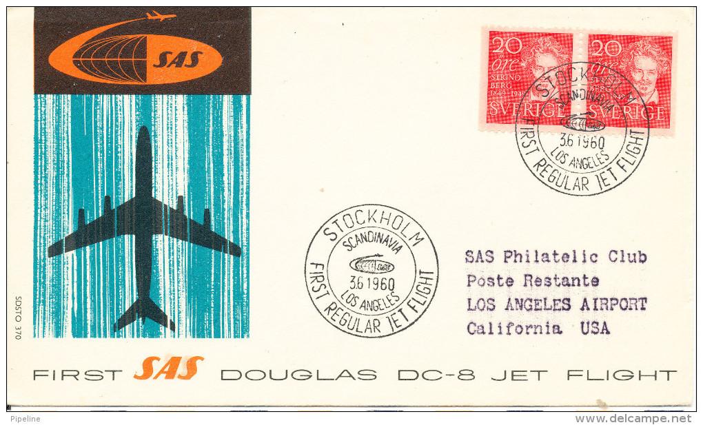 Sweden First SAS Regular Jet Flight Flight Scandinavia - Los Angeles 3-6-1960 - Sweden