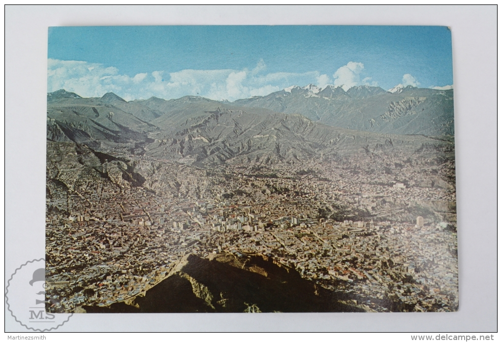 Postcard Bolivia - Panoramic View Of The Central Zone, La Paz - Bolivia