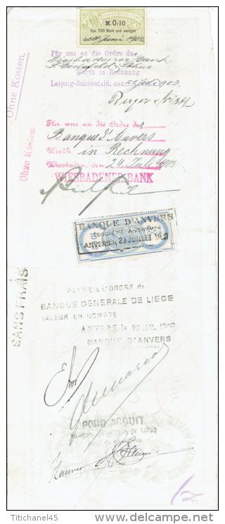 Prima-Wechsel 1903 - LEIPZIG - BERLIN-FLORENZ-LONDON-MOS KAU-ST-PETERBOURG-NEW-YOR K - BERGER & WIRTH - Farben-fabri - Allemagne