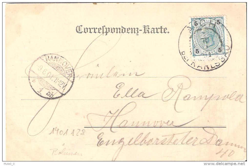 AK 0075  Gruss Vom Hans Heiling Bei Karlsbad  - K. K. Österreich Um 1901 - Tschechische Republik