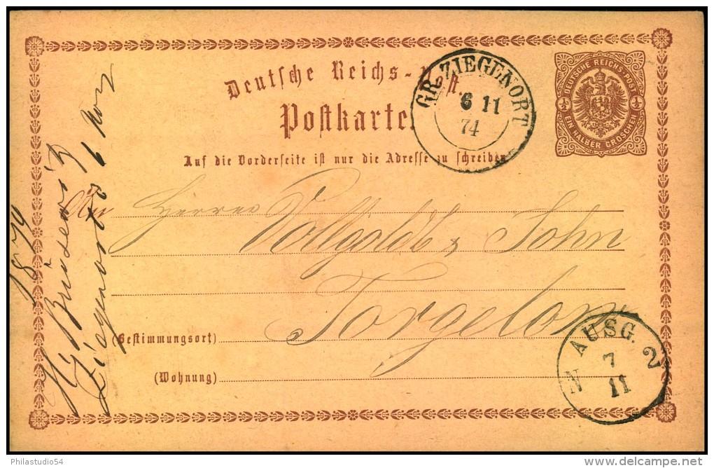 GR. ZIEGENORT, Preussen-Nachverwendung Auf P1 1874 - Deutschland