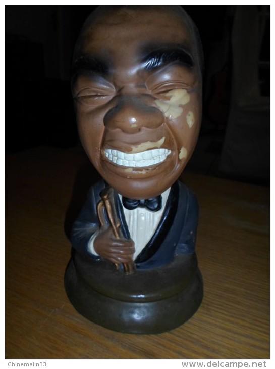 Lot  DE 2 Personnages Musiciens Noirs Americains - Sculptures