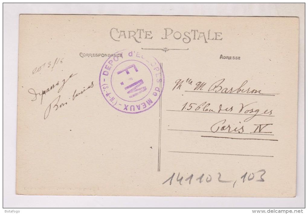 CPA DPT 77 MEAUX, LES VIEUX MOULINS ET LES PONTS DU MARCHE En 1912!! (voir Tampon Militaire) - Meaux