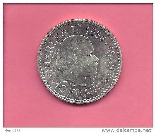 MONACO  --  Pièce 10 Francs 1966 CHARLES III Argent  25 Gr. - Monaco