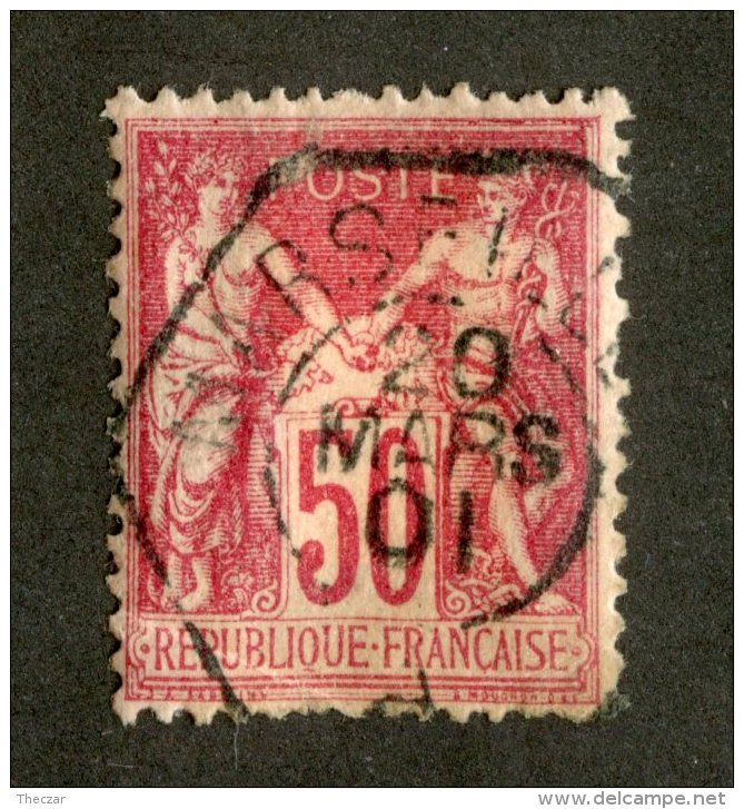 4931  France 1898  Yt.#104  (o)  Scott #107  Offers Welcome! - 1876-1898 Sage (Type II)