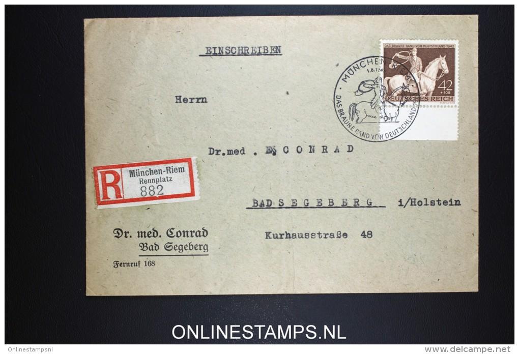 Deutsches Reich 1943 Mi 854 Sonder Stempel München Riem  Registered Cover München To Bad Segeberg - Briefe U. Dokumente