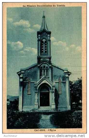 2 Cpa - Cao-binh, L'église (brun Et Bleu - Vietnam