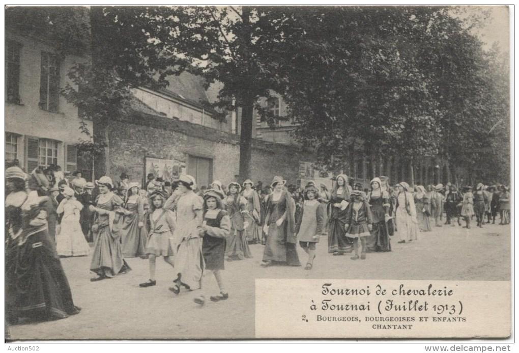 TP 135 Roulette Bruxelles 1919  S/CP Publicitaire Recto Tournoi De De Chevalerie à Tournai PR1872 - Precancels