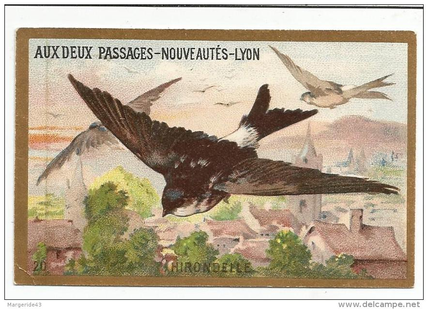 CHROMOS AUX DEUX PASSAGES (LYON) - HIRONDELLE. - Cromo