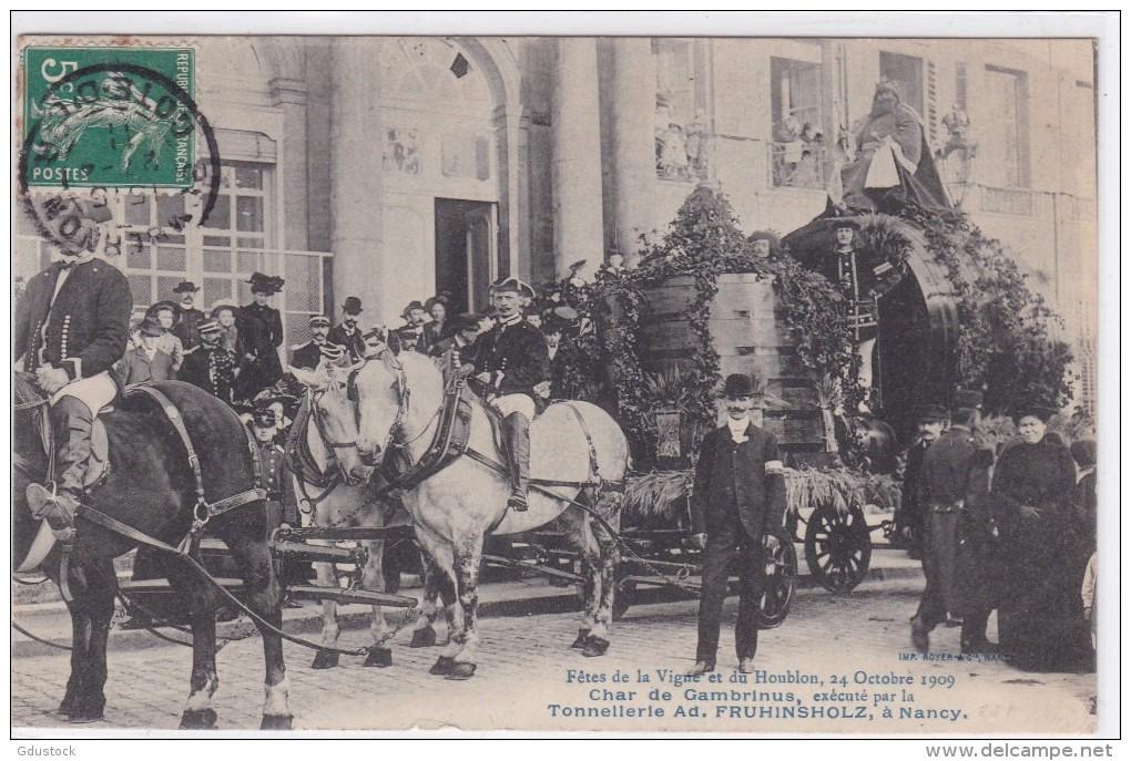 Fetes De La Vigne Et Du Houblon 24 Octobre 1909 Char De Gambrinus - Nancy