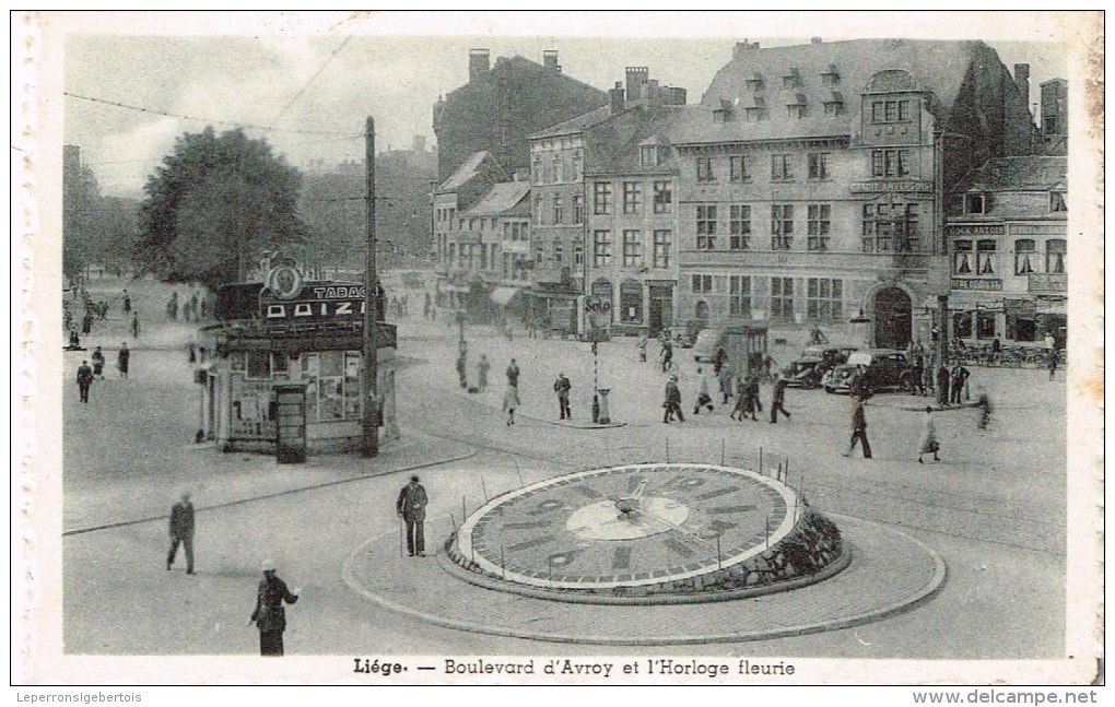 CPA - Vieux Liège -  Boulevard D'Avroy Et L'Horloge Fleurie - - Liege