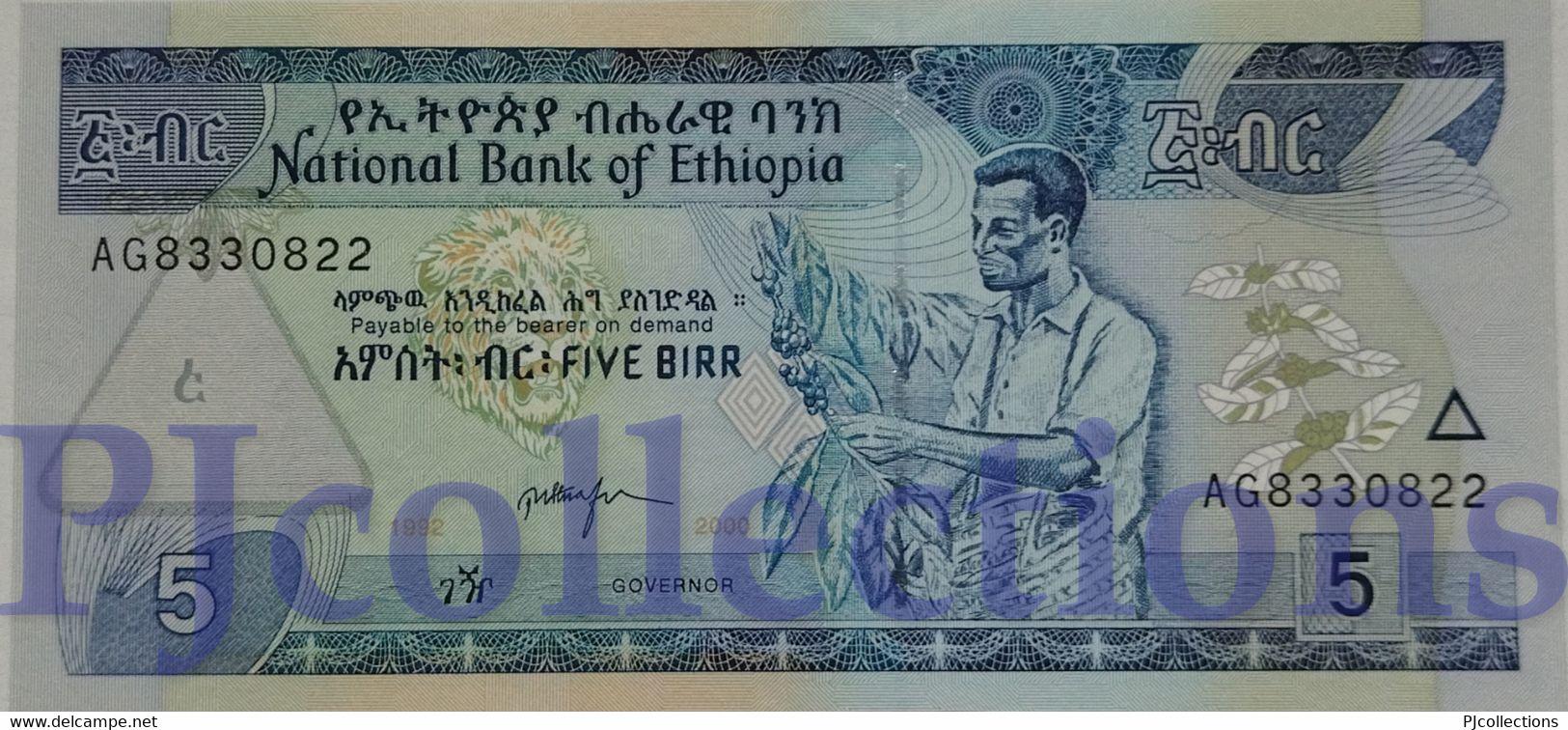 ETHIOPIA 5 BIRR 2000 PICK 47b UNC - Ethiopie