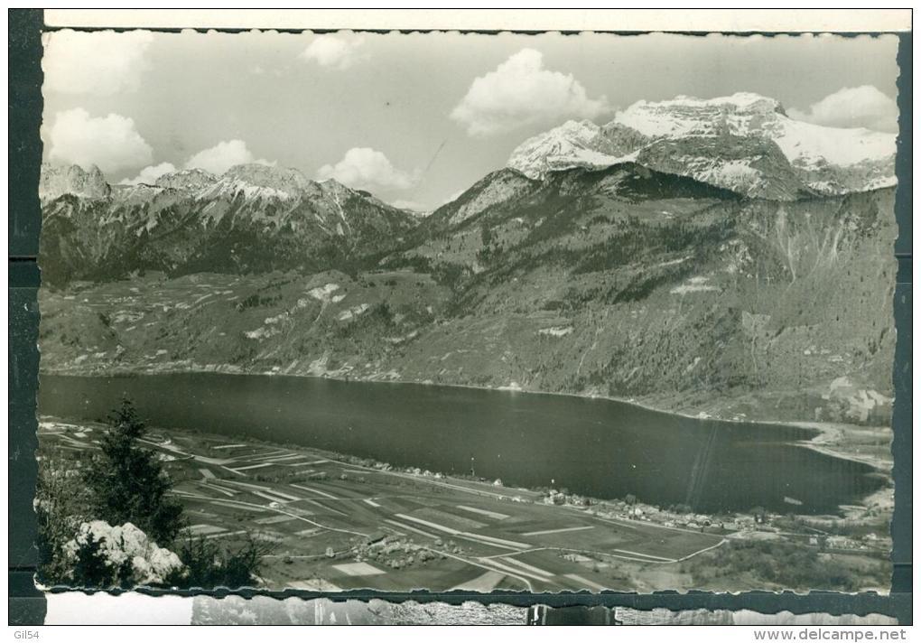 N°714 Panorama Du  Lac D'Annecy ( Haute Savoie ) Dominé Par La Tournette, Pris Du Belvédère D'entrevernes  Faz111 - Annecy