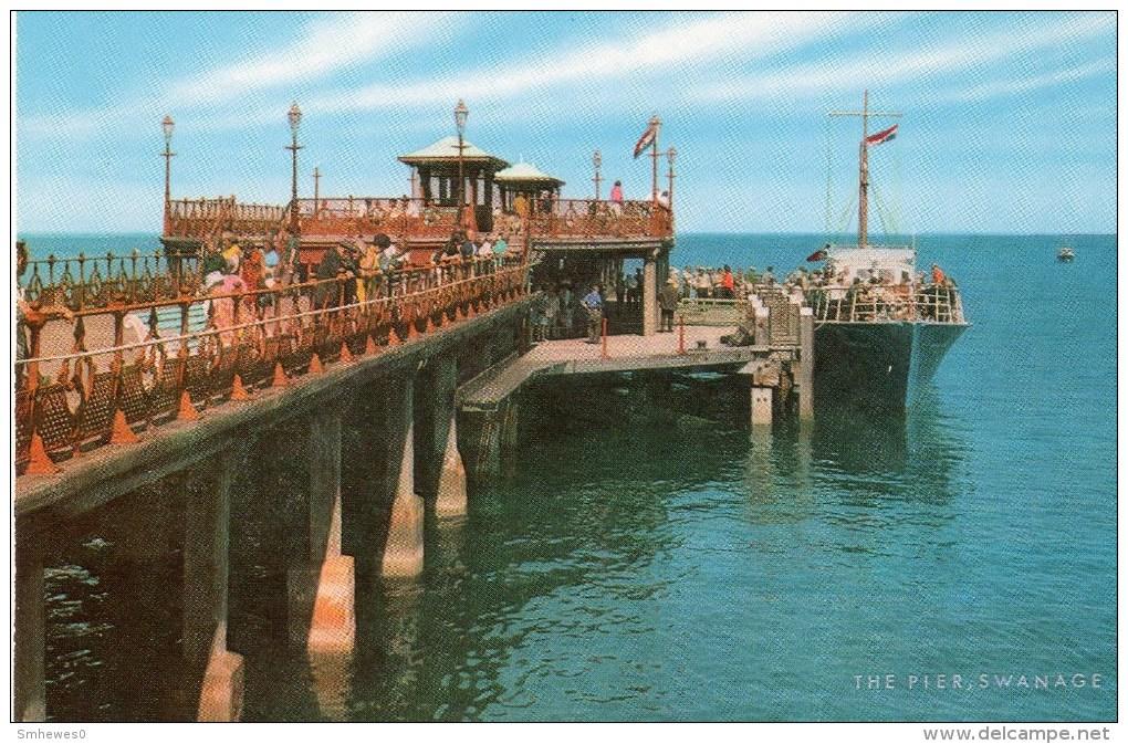 Postcard - Swanage Pier, Dorset. 1-54-09-14 - Swanage