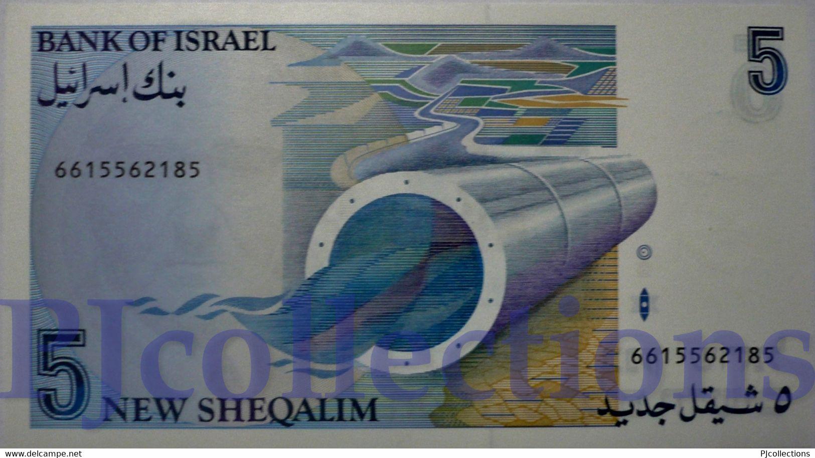 ISRAEL 5 NEW SHEQUALIM 1987 PICK 52b UNC - Israel