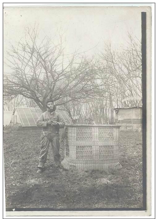 Photo Guerre 1914-18 - Aérostier à Côté De La Nacelle En Osier En Tenue Près Pour Une Mission D'observation - War, Military