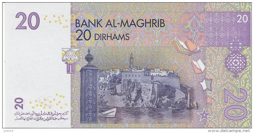 MOROCCO 20 DIRHAMS 2005 PICK 68 UNC - Marocco