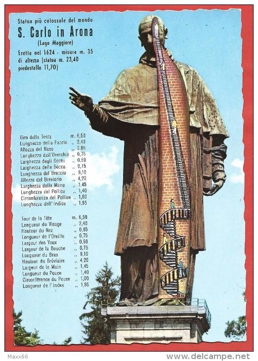 CARTOLINA NV ITALIA - SAN CARLO IN ARONA - Lago Maggiore - Statua Colossale - 10 X 15 - Sculture