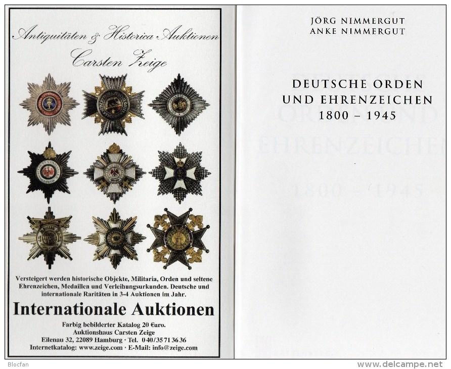 Deutsche Orden Ehrenzeichen 1800-1945 Battenberg Katalog 2014 New 40€ Germany Baden Bayern Danzig Saar Sachsen III.Reich - Deutsch