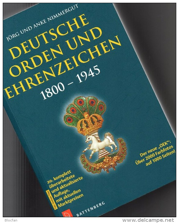 Battenberg Deutsche Orden Ehrenzeichen 1800-1945 Katalog 2014 Neu 40€ Germany Baden Bayern Danzig Saar Sachsen III.Reich - Literatur