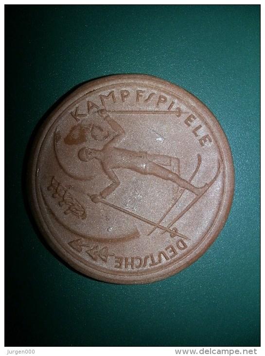 1922 Deutsche Kampfspiele, Wintersportwoche, Porcellan/keramik (medailles0113) - Deutschland