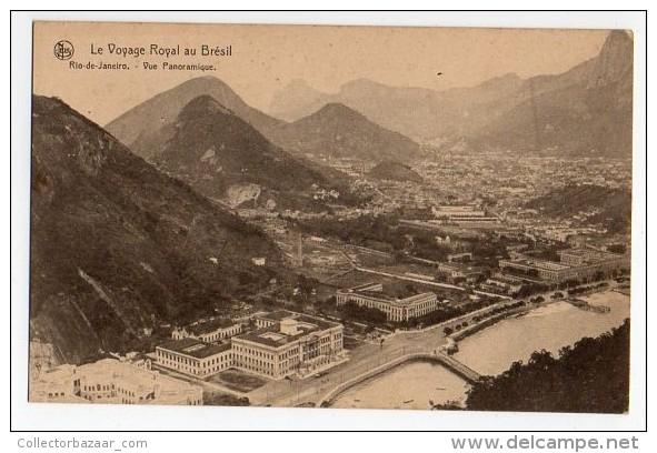 Belgium Royal Visit To Rio De Janeiro Nels Edit Ca1900 Cartao Postal Vintage Original Postcard Cpa Ak (W4_776) - Rio De Janeiro