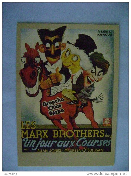 CPM CINEMA - UN JOUR AUX COURSES AVEC LES MARX BROTHERS - Manifesti Su Carta