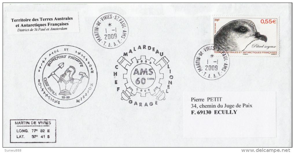 TAAF District St Paul Et Amsterdam Martin De Vivies 60ème Mission Malardeau 2009 (voir Photo) - Terres Australes Et Antarctiques Françaises (TAAF)