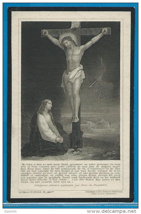 Souvenir Pieux De Hyachinte Moulin - Baudour - Bonsecours - 1840 - 1913 - Images Religieuses