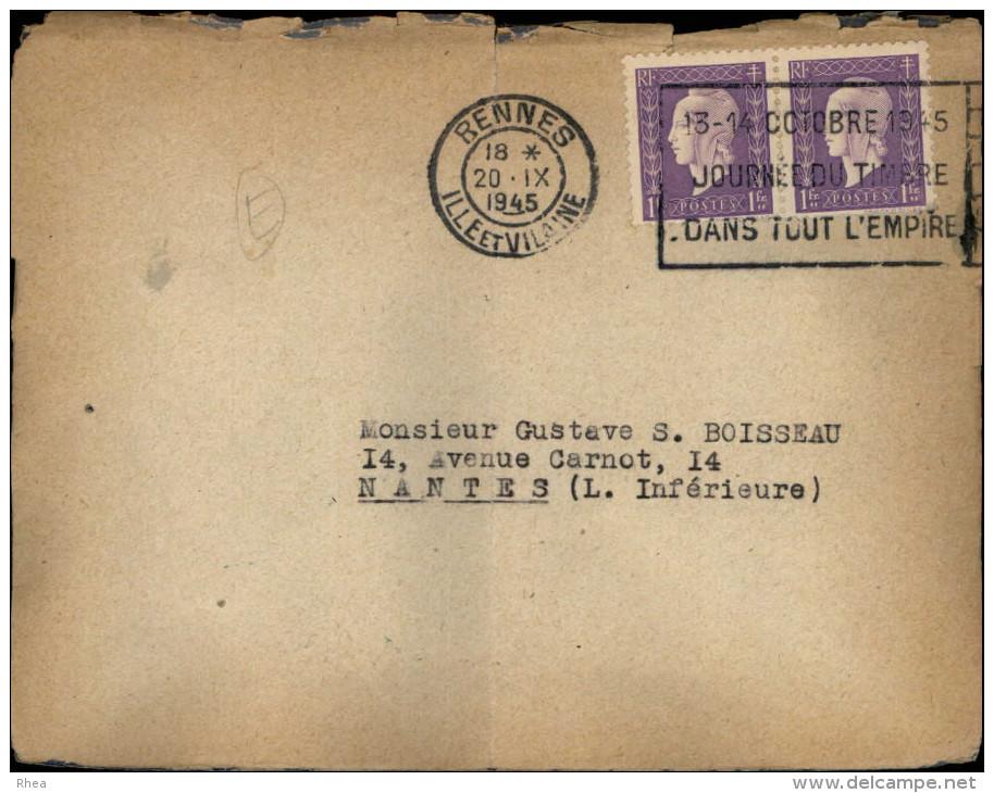 CINEMA - Lettre En Réponse à La Demande De Rachat Du Cinéma CELTIC De RENNES - 1945 - Vieux Papiers