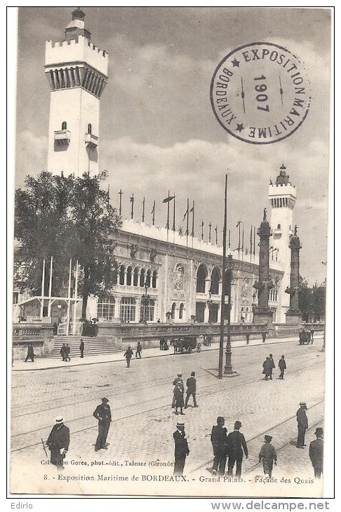 BORDEAUX  Façade Des Quais Exposition Maritime De 1907 - Bordeaux