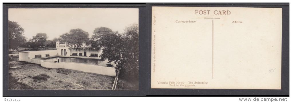 Rhodesia - Victoria Falls Hotel, Swimming Pool In The Grounds,  Real Photo, Rhodesia Railways (pub) - Zimbabwe