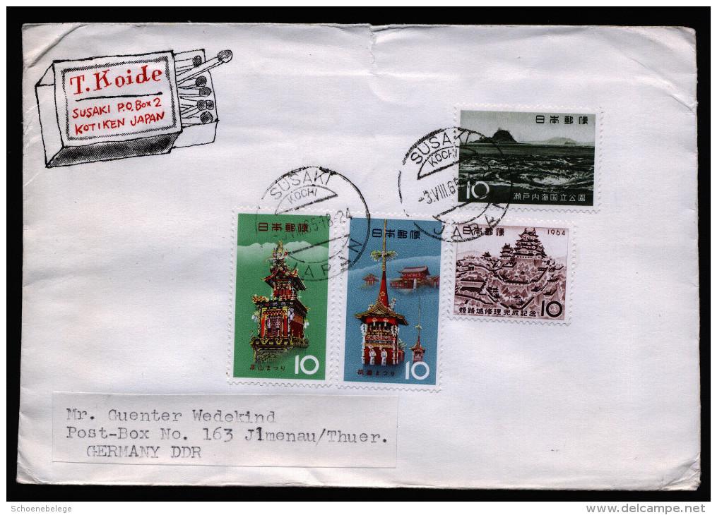 A3064) Japan Brief Von Susaki 3.8.1965 Nach Ilmenau / DDR - 1926-89 Kaiser Hirohito (Showa Era)