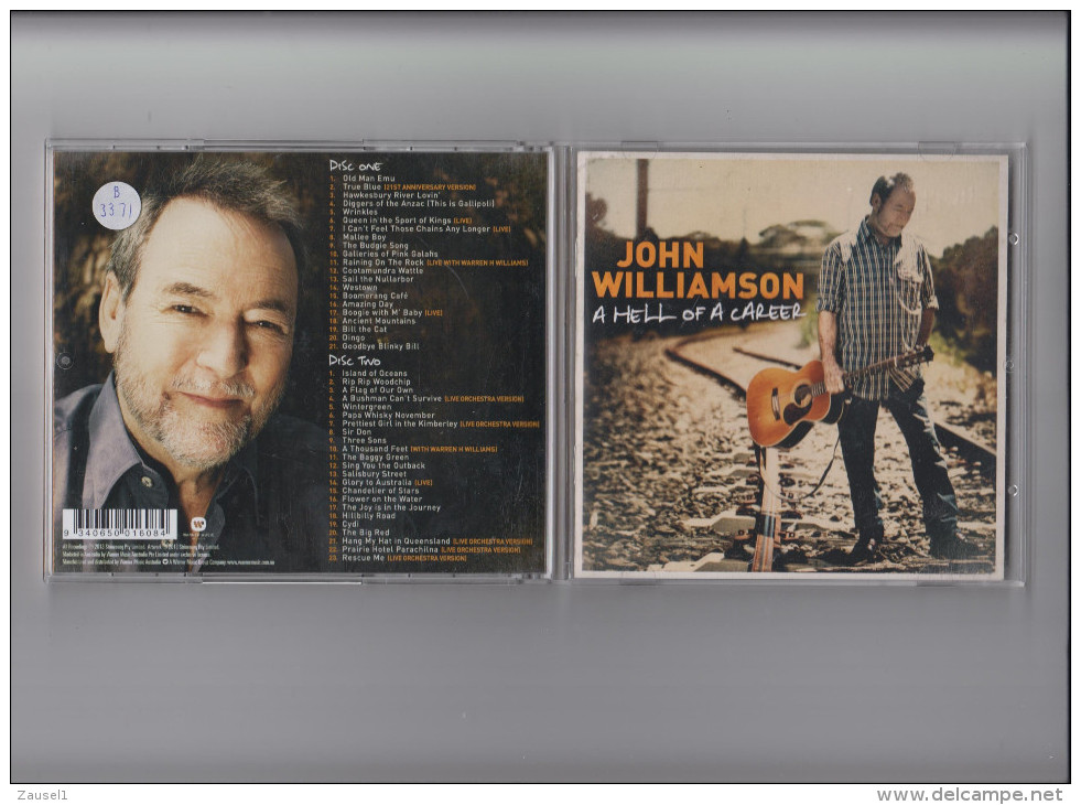 John Williamson - A Hell Of A Career - 2 Original CDs Aus 2013 - 44 Titel - Country & Folk