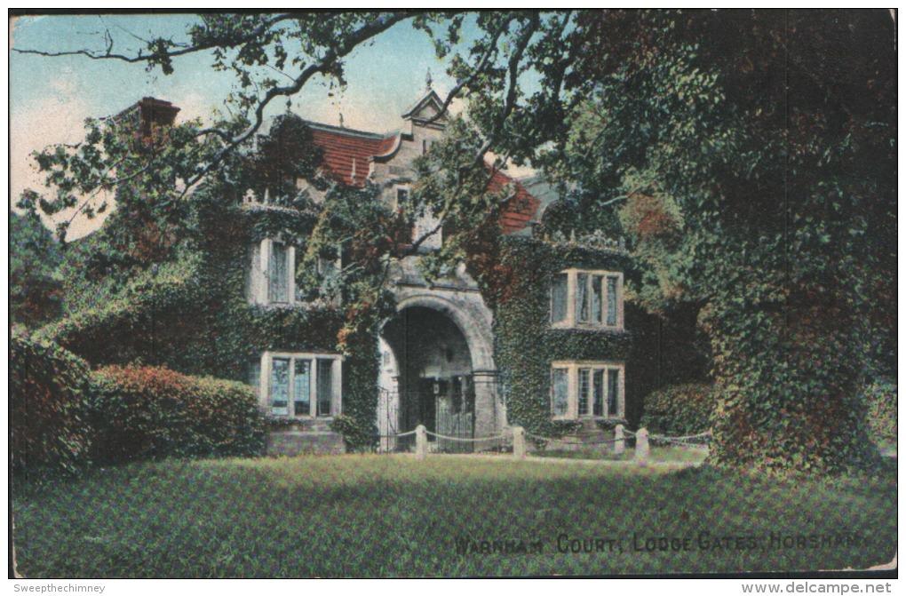 Warnham Court Lodge Gates Horsham  Used 1911 Dorking Postcard - England
