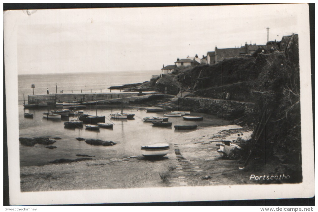 RP Portscatho HARBOUR Nr Falmouth & Truro Cornwall USED  Old Postcard - Other