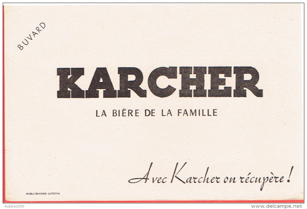 BUVARD KARCHER LA BIERE DE LA FAMILLE - K