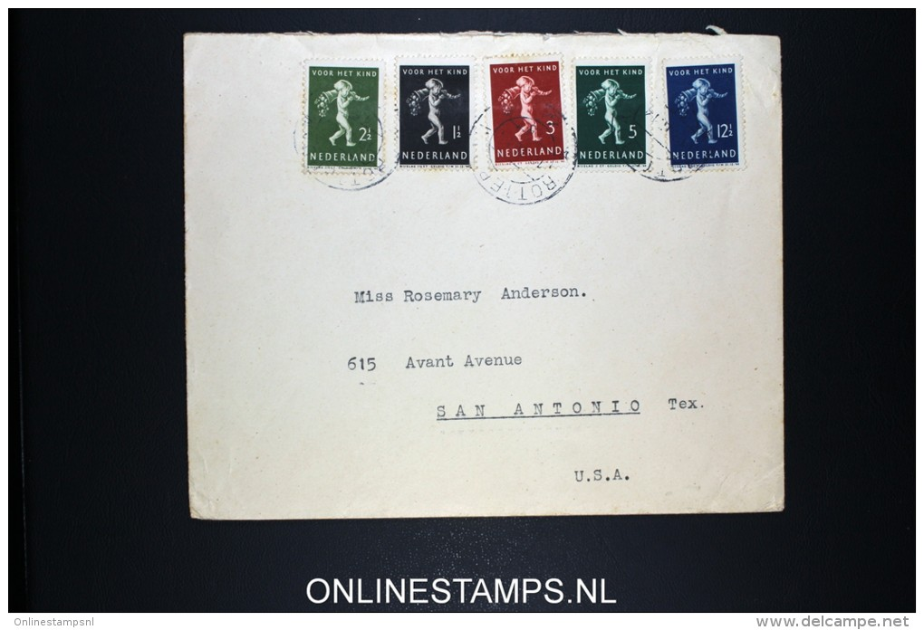 Netherlands: Airmail Cover Rotterdam - San Antonio USA To SS Blommersdyk 1939 NVPH 327-331 - Periode 1891-1948 (Wilhelmina)