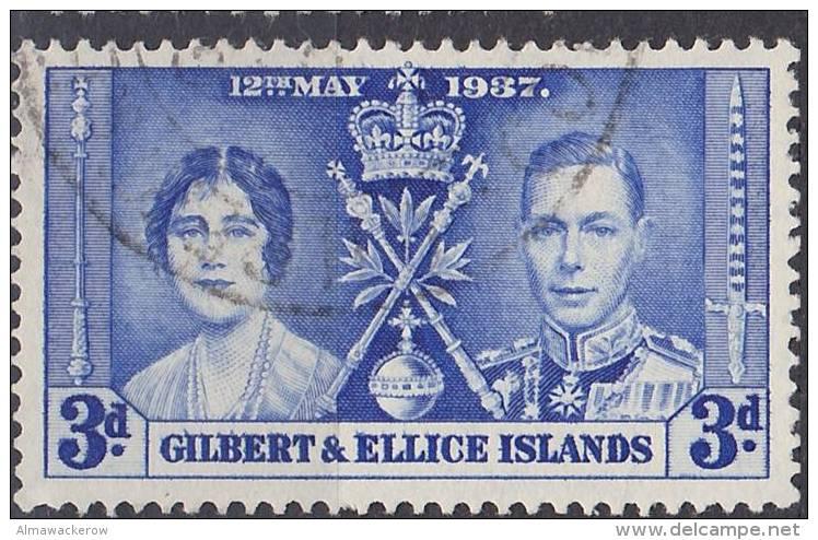 Gilbert And Ellice Islands 1937 Used, Mi 37 2013-0210 - Gilbert & Ellice Islands (...-1979)